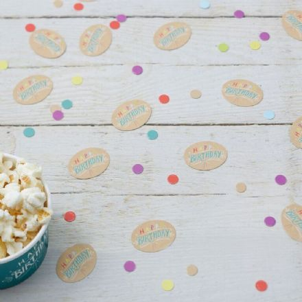 "Kraft Party - ""Happy Birthday"" Table Confetti"
